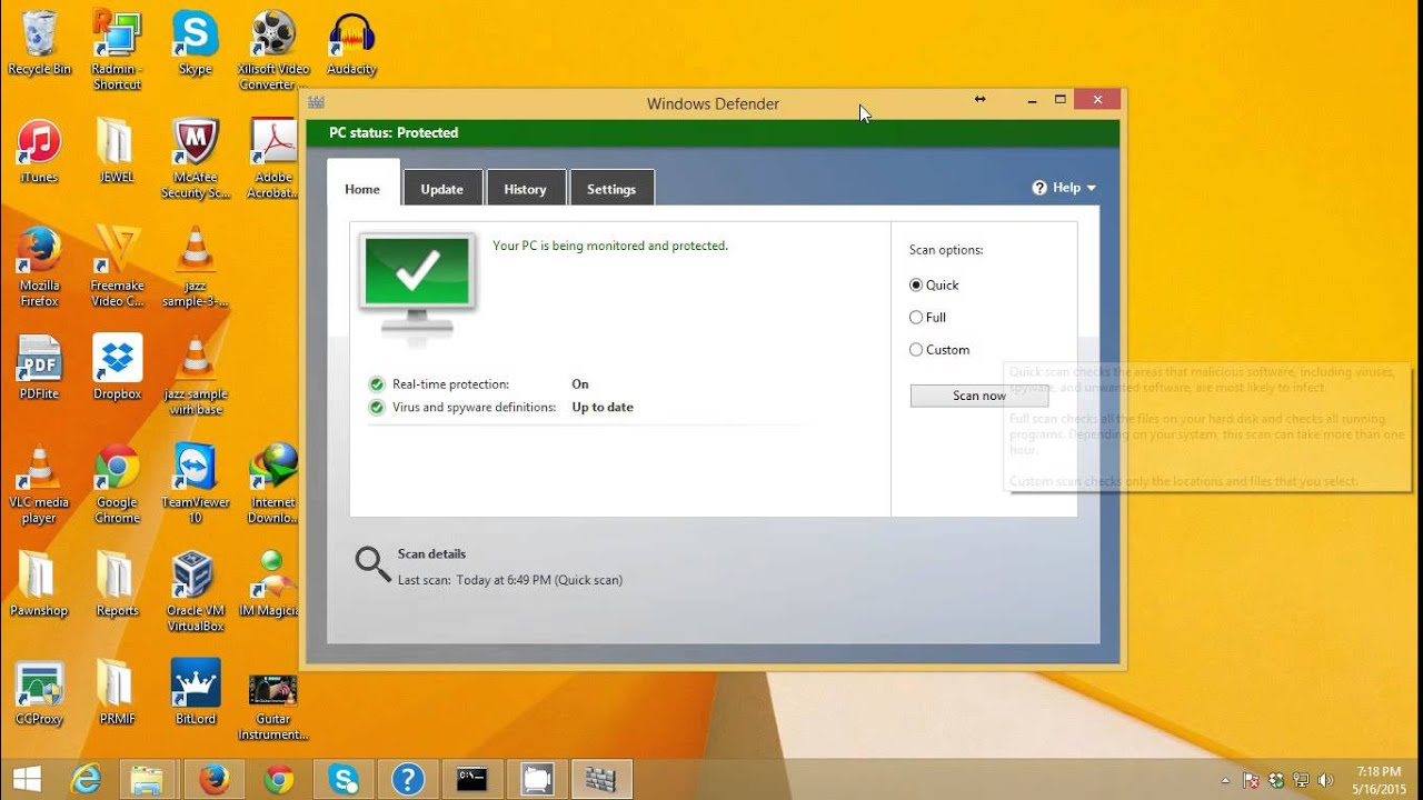 How to scan flash drive with Windows Defender