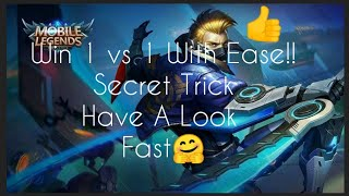 How To Win 1 Vs 1 With Ease| Mobile Legnds | Horro Haruto.