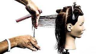 How To: Cut a Basic Square Layered Haircut | Hair Tutorial