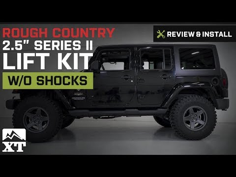 "Jeep Wrangler Rough Country 2.5"" Series II Lift Kit w/o Shocks (2007-2017 JK) Review & Install"
