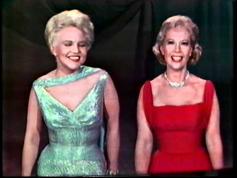 "HD Dinah Shore & Peggy Lee 1959 ""I've Got Rhythm"" on ""Dinah Shore Chevy Show"""