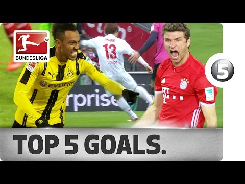 Aubameyang, Müller, Osako & More - Top 5 Goals on Matchday 25