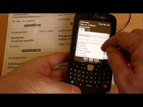 Scanning barcodes on nursery label using IrisBG Mobile and Motorola MC55A0