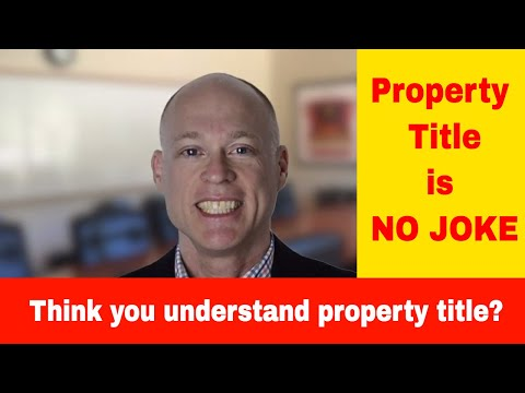 What Is Property Title & Title Insurance?