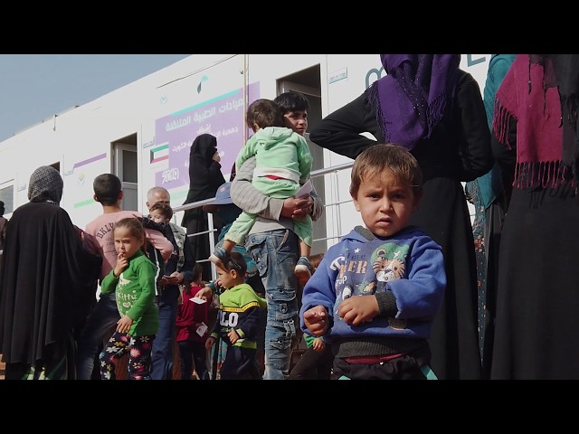 العيادة المتنقلة في مخيم الحلزون - هيئة ساعد الخيرية