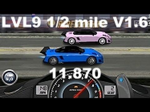 Drag Racing level 9 Porsche 9ff GT9-R 1/2 mile tune V1.6