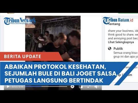 Abaikan Protokol Kesehatan, Sejumlah Bule Di Bali Joget Salsa, Petugas Langsung Bertindak