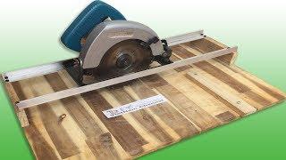 |DIY| Homemade Circular Saw Crosscut Jig - DIY Circular Saw Miter Jig
