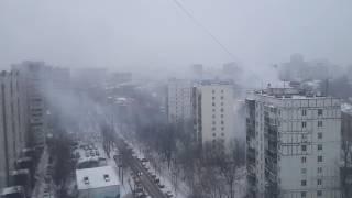 Горит кадетский корпус Москва