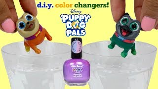 DIY Puppy Dog Pals Color Changers  Nail Polish Kid