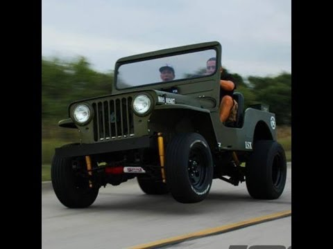 Lsx Willys Jeep Wheelie On The Streets Youtube