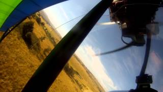 Bantam B22J low pass and short landing (microlight)