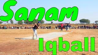 Sanam Iqball, Usman Malik Bating; Tapeball cricket Pakistan