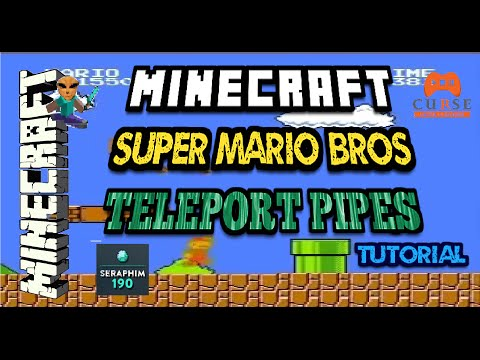 Minecraft: SUPER MARIO BROS - Teleportation Pipes ( HOW TO TUTORIAL ) PS4 - XBOX Episode: 453