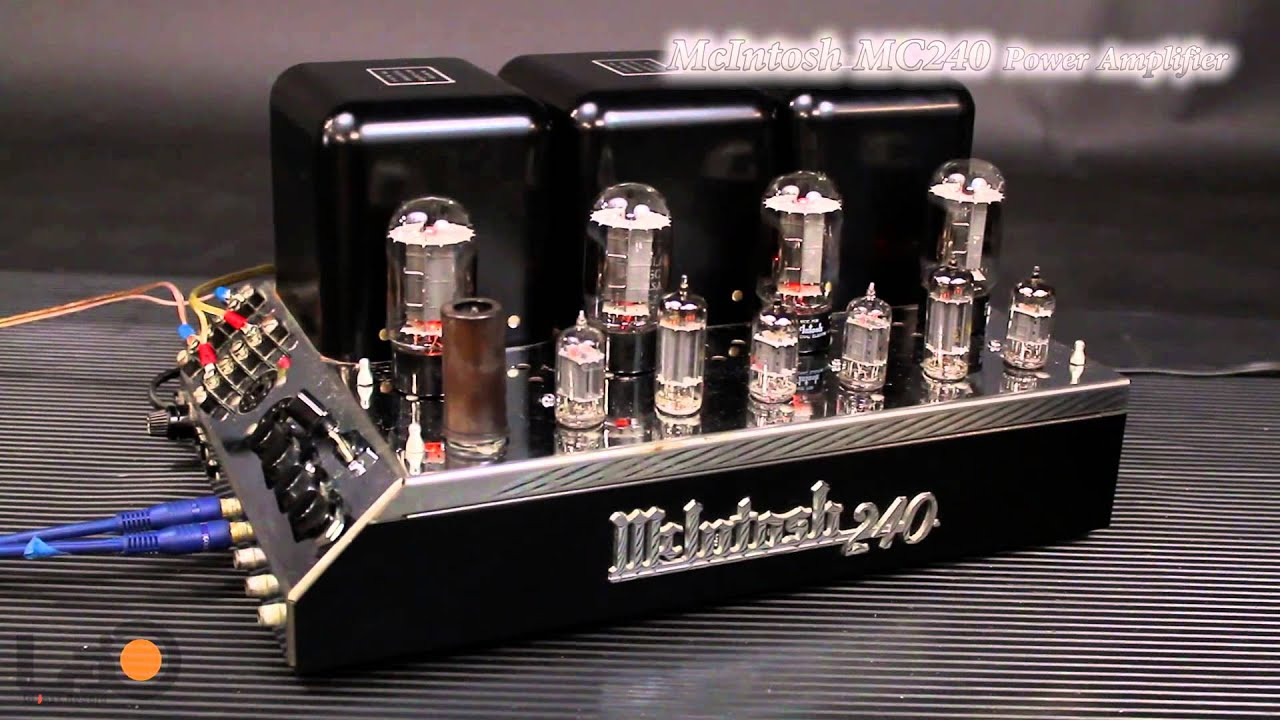 mcintosh mc 240 twin 40w stereo power amplifier youtube rh youtube com McIntosh MX110 Review Vintage McIntosh Tube Amplifiers