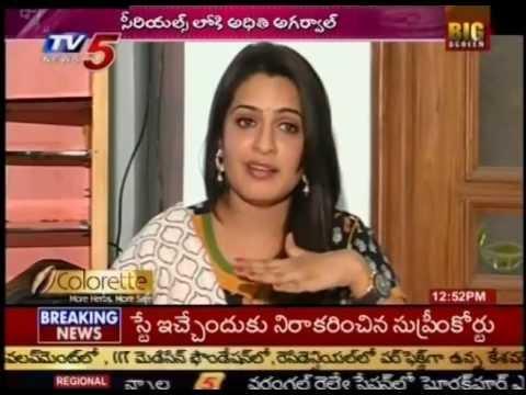 Aditi Agarwal goes to T.V Serials(TV5)