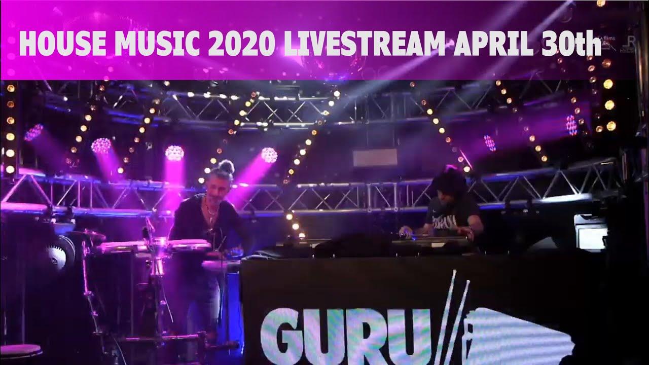 House music 2020 live stream incl live percussion two hours, April 30th: Guru Da Beat x Frank Wagner