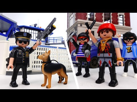 Jail Break from the Police Station~! Police Officer Please Catch Them - ToyMart TV