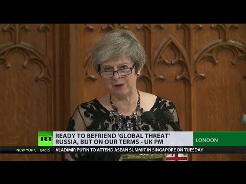 May: UK's ready to befriend 'global threat' Russia, but on our terms