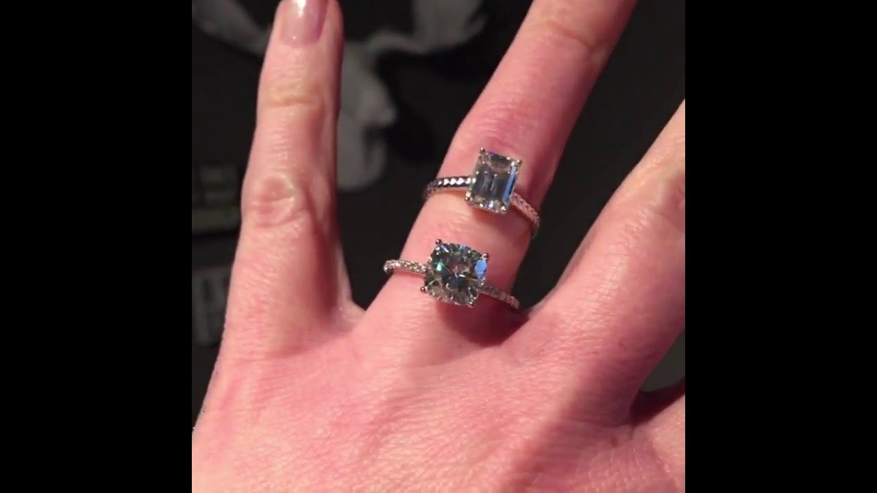 Forever Brilliant Moissanite Engagement Rings - YouTube
