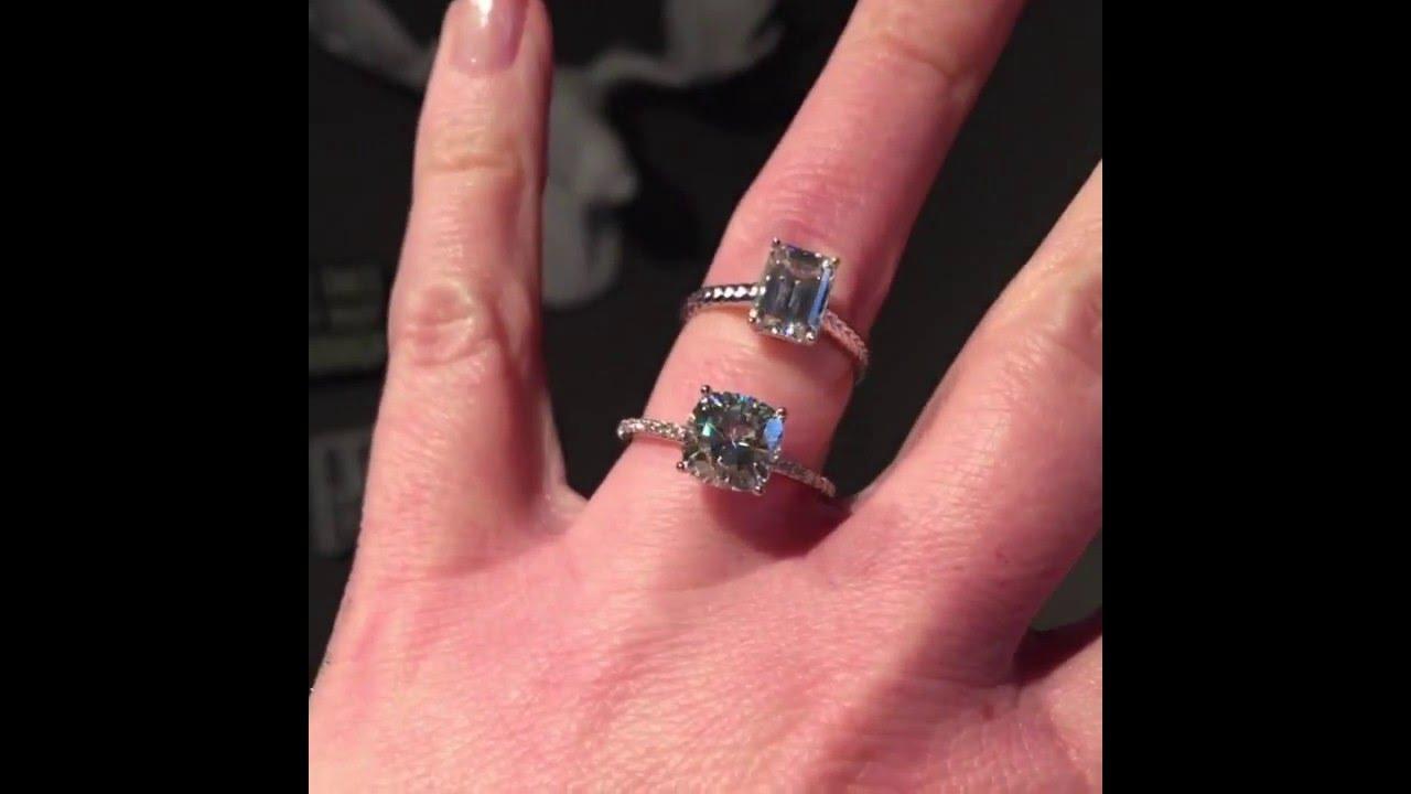 Forever Brilliant Moissanite Engagement Rings - YouTube