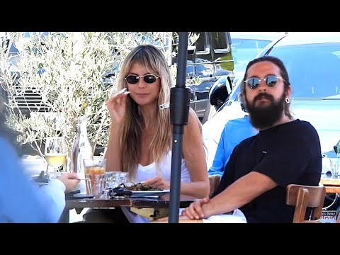Heidi Klum And Hubby Tom Kaulitz Grab Lunch At Fred Segal With Her Daughters Leni And Lou
