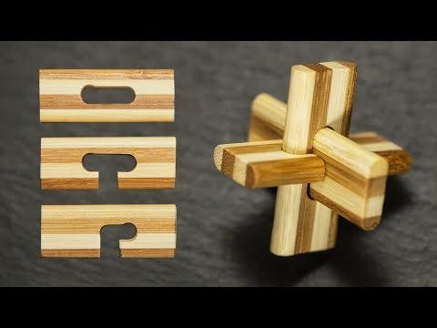 Как собрать и разобрать головоломку Крест.
