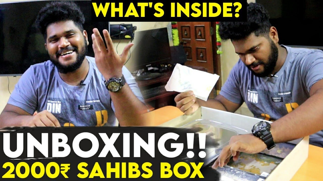 Whats inside 2000₹ sahibs box | unboxing |