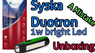 SYSKA T112ML DUOTRON 1W Bright Led Rechargeable Torch screenshot 3