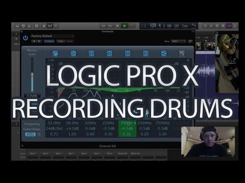 Logic Pro X Tutorial - How to Record Drums - Part 1 - (Logic Pro 10)