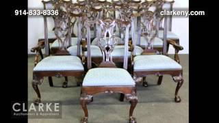 Henredin Dining Table And 12 Chairs | Henredon | Furniture | Clarke Auction Gallery