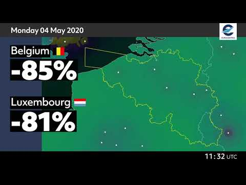 Air traffic situation over Belgium, Luxembourg and the Netherlands - 4 May 2020 vs 6 May 2019