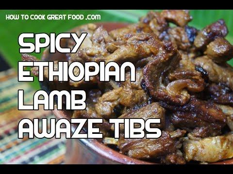 Ethiopian Goat Tibs Recipe - Goat meat fry BBQ - Feyell Injera Berbere ...