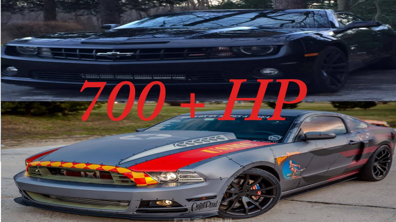 700 Hp Turbo Mustang Vs Procharged Camaro Ss