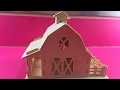 Woodcraft Construction Kit DIY, Assembly Wooden Farm Barn