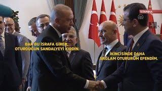 Ekrem İmamoğlu'nun sandalyesi kırılınca Cumhurbaşkanı Erdoğan ne dedi,  İmamoğlu ne cevap verdi?