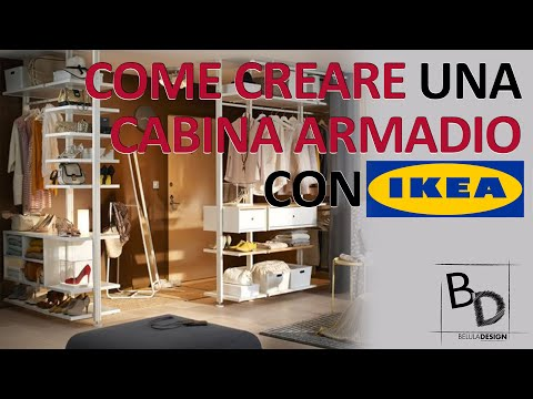 Ikea Progetto Cabina Armadio.Come Creare Una Cabina Armadio Con Ikea Belula Design Youtube