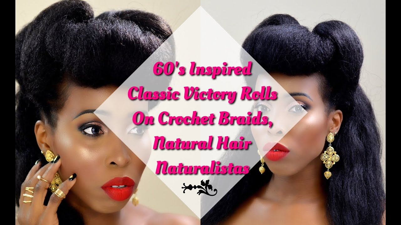 Hair Tutorial 60s Classic Victory Rolls On Crochet Braids
