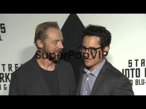 J.J. Abrams, Simon Pegg at Star Trek Into Darkness Blu-ra...