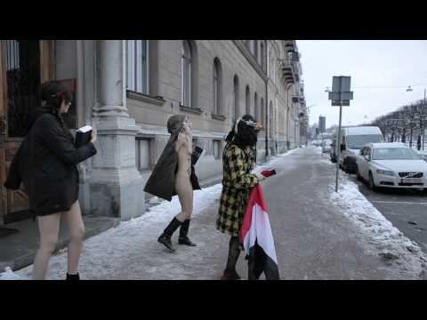 everydayrebellion.com presents - Aliaa Elmahdy & Femen protesting against Egyptian constitution
