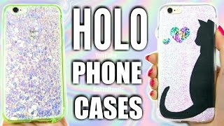 5 DIY HOLO PHONE CASES - Holographic iPhone Case How To + Cat Designs