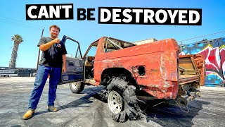 homepage tile video photo for Backyard-Built Bronco Brings 4wd Mayhem to Our Lot, Sends its 33s to the Moon // HHH ep.016
