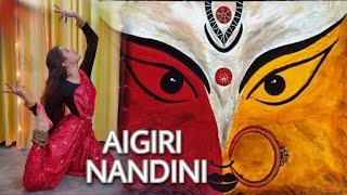 Aigiri Nandini - Bombay Jayashri | Durga Stotra | Kathak Dance Cover | Unnaty Karn Choreography
