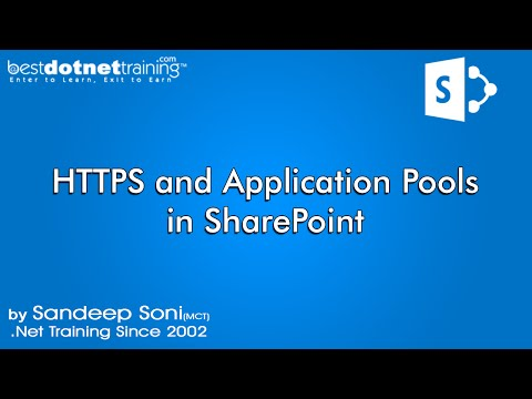 Part 10 - Important Terms and HTTPS - What is Application Pool? - SharePoint 2010