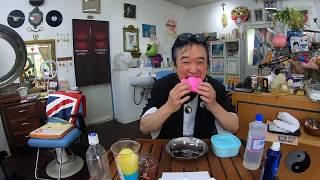 【音フェチ】まさよC久々にスライム作って綿菓子食べる【ASMR】Make slime and eat cotton candy