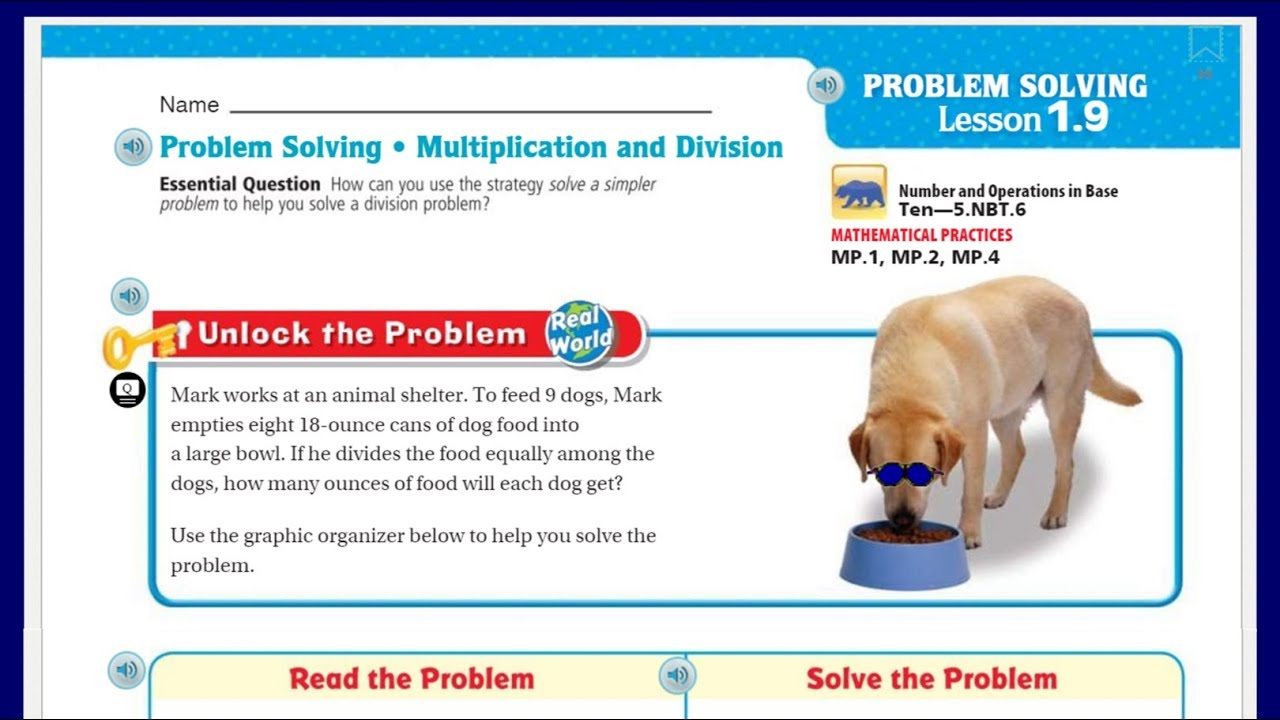 worksheet Division Story Problems 5th Grade go math 5th grade lesson 1 9 problem solving multiplication division