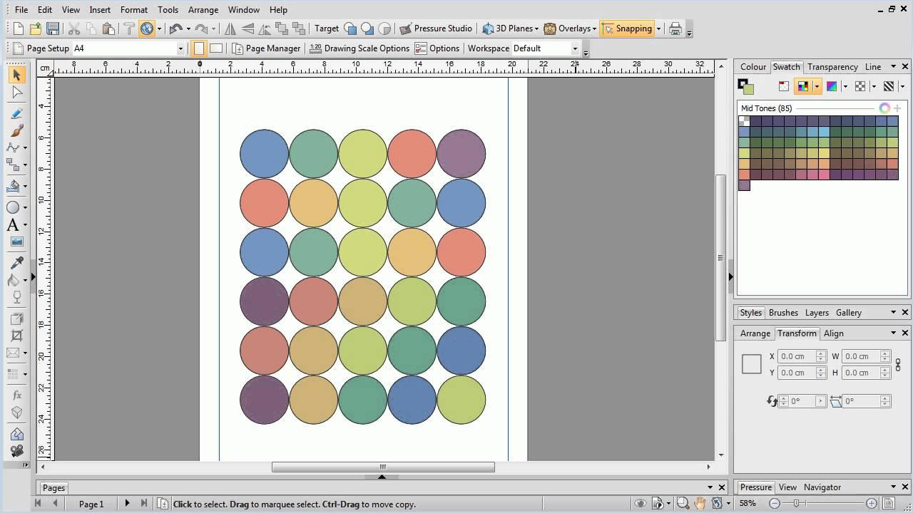 Serif Drawplus X8 Tutorial Replicate Tool Youtube