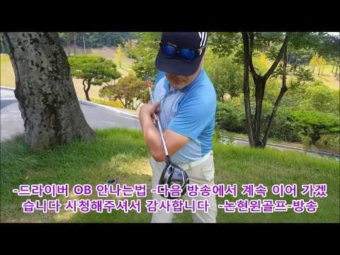 드라이버 아이언 오비 OB 절대 안나는법 2 -빽스윙과 테이크웨이 연습- 실전 독학 골프