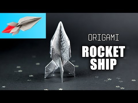 Origami Rocket Ship Tutorial - Flying Spaceship - Paper Kawaii