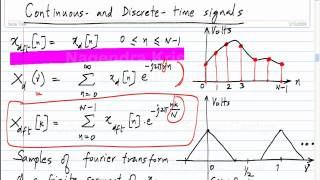 signals in time and frequency domains taking dfts correctly